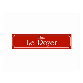 Rue Le Royer, placa de calle de Montreal Postales