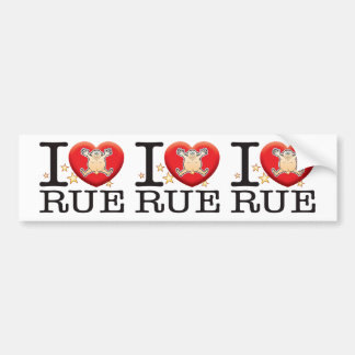 Rue Love Man Bumper Sticker