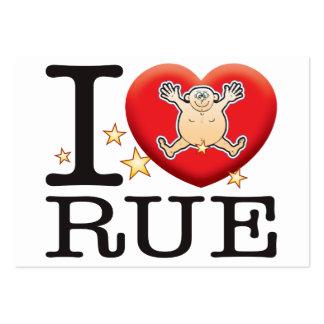 Rue Love Man Large Business Card