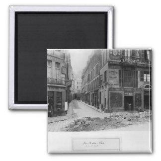 Rue Maitre Albert  Paris, 1858-78 2 Inch Square Magnet