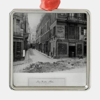 Rue Maitre Albert  Paris, 1858-78 Metal Ornament