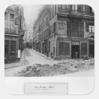 Rue Maitre Albert  Paris, 1858-78 Square Sticker