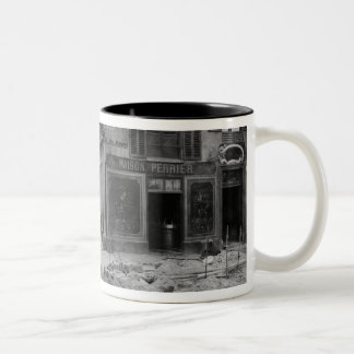 Rue Maitre Albert  Paris, 1858-78 Two-Tone Coffee Mug