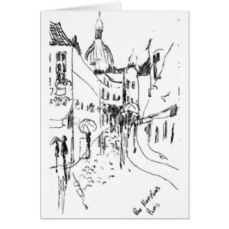 Rue Mervins, Paris Card
