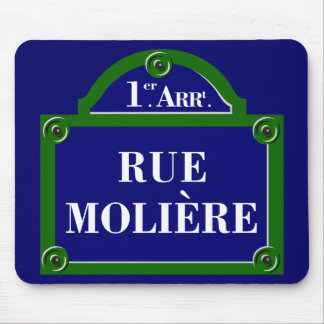 Rue Moliere, Paris Street Sign Mouse Pad