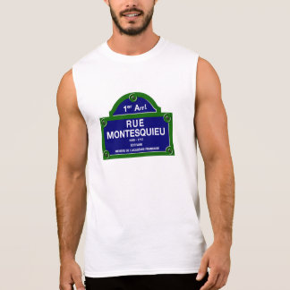 Rue Montesquieu, Paris Street Sign Sleeveless Shirt