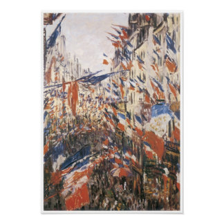 Rue Montorgeuil Decked with Flags, 1878 Poster