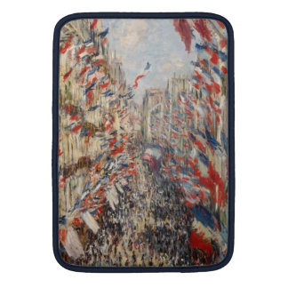 Rue Montorgueil, 30th of June 1878 - Claude Monet Sleeves For MacBook Air