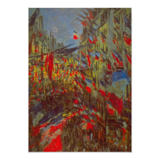 Rue Montorgueil Decked Out w Flags by Claude Monet Custom Invites