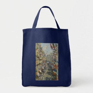 Rue Montorgueil in Paris by Claude Monet Tote Bags