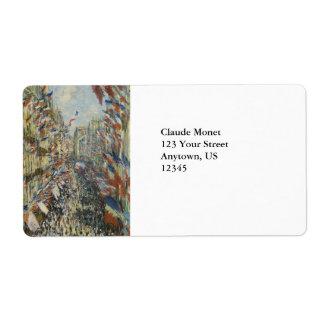 Rue Montorgueil in Paris by Claude Monet Label
