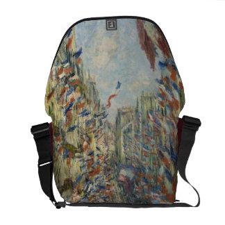 Rue Montorgueil in Paris by Claude Monet Messenger Bag