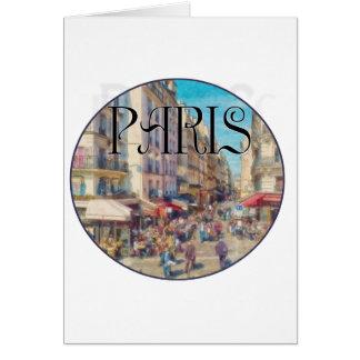 Rue Montorgueil, Paris, France Card