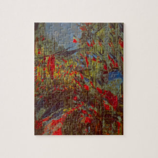 Rue Montorgueil with Flags by Claude Monet Jigsaw Puzzle