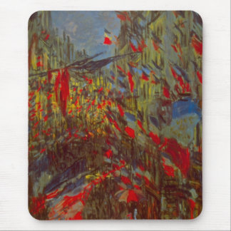 Rue Montorgueil with Flags by Claude Monet Mouse Pad