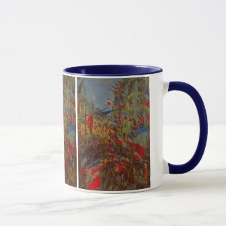 Rue Montorgueil with Flags by Claude Monet Mug