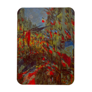 Rue Montorgueil with Flags by Claude Monet Rectangular Photo Magnet