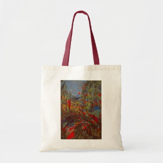 Rue Montorgueil with Flags by Claude Monet Tote Bag