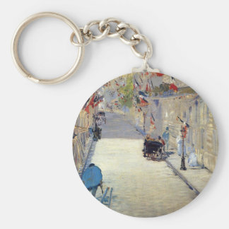 Rue Mosnier decorated with Flags Edouard Keychain