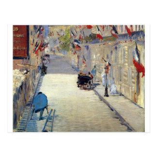 Rue Mosnier decorated with Flags Edouard Postcard