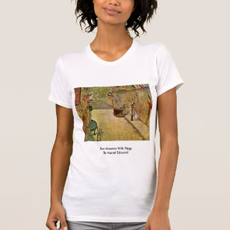 Rue Mosnier With Flags By Manet Edouard T-shirts