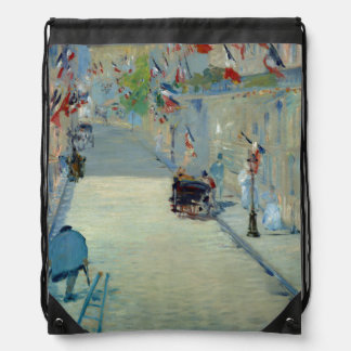 Rue Mosnier with Flags Manet Painting Backpack