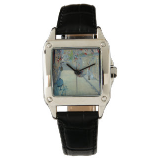 Rue Mosnier with Flags Manet Painting Watch