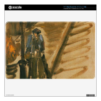 """Rue Mossnier with Knife Grinder by Edouard Manet 11"""" MacBook Air Skins"""