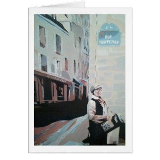 Rue Mouffetard greeting card