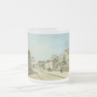 Rue Notre Dame Paris by Johan Barthold Jongkind Frosted Glass Coffee Mug
