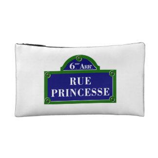 Rue Princesse, Paris Street Sign Makeup Bag