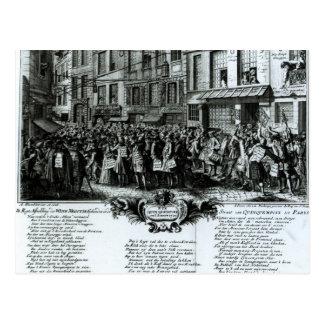 Rue Quinquempoix in 1720 Postcard