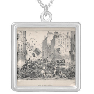 Rue Saint-Antoine Square Pendant Necklace