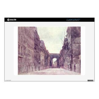 "Rue Saint-Denis in Paris by Thomas Girtin 15"" Laptop Decal"