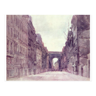 Rue Saint-Denis in Paris by Thomas Girtin Postcard