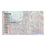 Rue Saint-Denis On The National By Claude Monet Business Card Templates