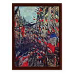 Rue Saint-Denis On The National By Claude Monet Postcard