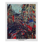 Rue Saint-Denis On The National By Claude Monet Posters