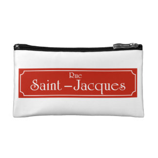 Rue Saint-Jacques, Montreal Street Sign Cosmetic Bag