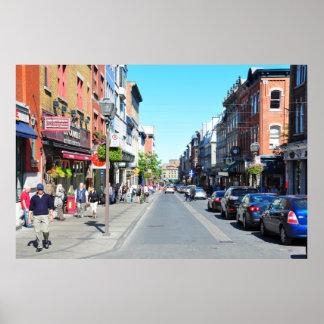 Rue Saint Jean Historic Old Quebec City Poster