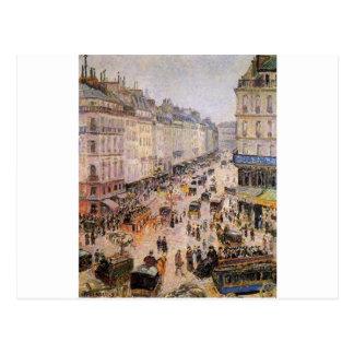 Rue Saint Lazare by Camille Pissarro Postcard
