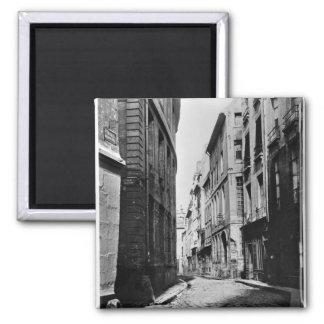 Rue Serpente, Paris, 1858-78 2 Inch Square Magnet