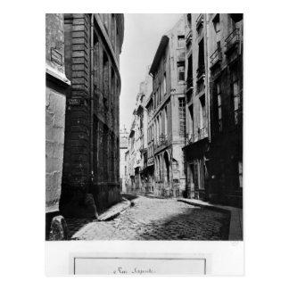 Rue Serpente Paris 1858-78 Postcard