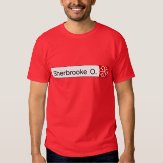 Rue Sherbrooke, Montreal Street Sign Tshirt
