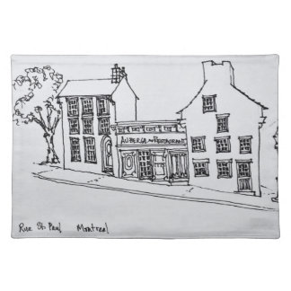 Rue St. Paul Old Town | Montreal, Canada Cloth Placemat