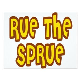 Rue The Sprue Card