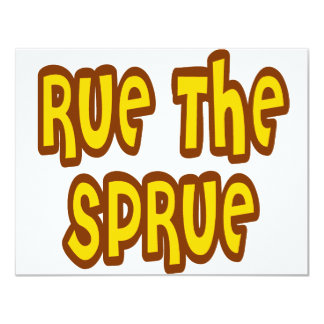 Rue The Sprue Personalized Invite