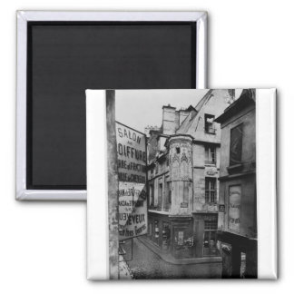 Rue Vieille-du-Temple, Paris, 1858-78 2 Inch Square Magnet