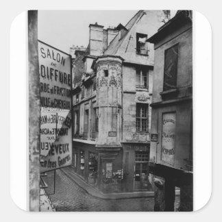 Rue Vieille-du-Temple, Paris, 1858-78 Square Sticker