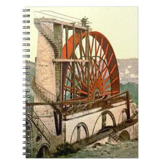 Rueda 1890 de Laxey Libretas Espirales